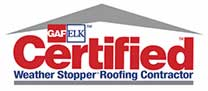 GAF/ELK Certified Weather Stopper Roofing Contractor