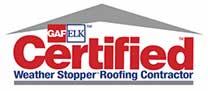 GAF/ELK Certified Weather Stopper Roofing Contractor